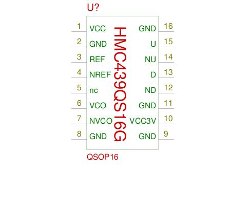 Symbol: phase_detector_HMC439QS16G sym